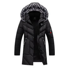 Load image into Gallery viewer, Winter Parka Men's Solid Jacket 2019 New Arrival Thick Warm Coat Long Hooded Jacket Fur Collar Windproof Padded Coat Fashion Men