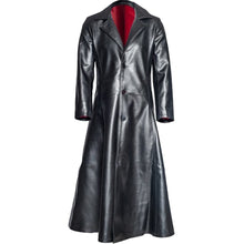 Load image into Gallery viewer, New Men's Fashion Gothic Long Coat Faux Leather Coat Jacket S-5XL jaqueta de couro jaqueta de couro masculino Jacket