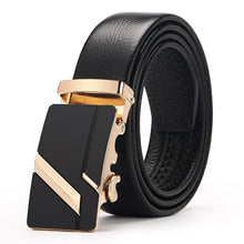 Load image into Gallery viewer, [LFMB]Famous Brand Belt Men Top Quality Genuine Luxury Leather Belts for Men,Strap Male Metal Automatic Buckle