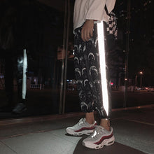 Load image into Gallery viewer, HOUZHOU Reflective Harem Gothic Pants Women Hip Hop Streetwear Ankle Length Trousers Plus Size Mid Loose Pencil Pantalon Female
