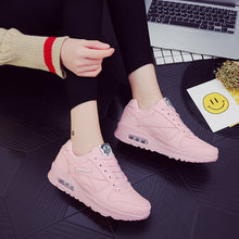 Load image into Gallery viewer, Breathable Mesh Women Flats Shoes Black Pink Wimen Sneakers Lightweight Ladies Tenis Trainers Damping Woman Scarpe Donna Basket