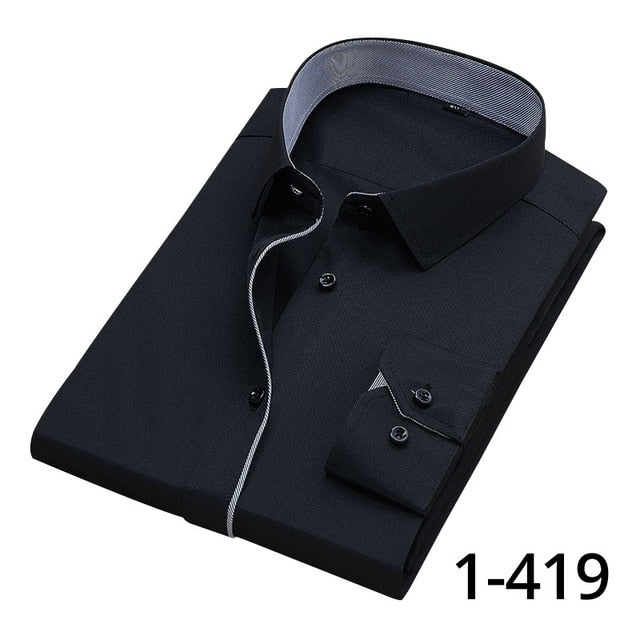 DAVYDAISY Hot Sale High Quality Men Shirt Long Sleeve Twill Solid Causal  Formal Business Shirt Brand Man Dress Shirts DS085