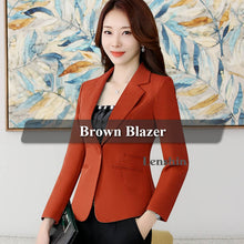 Load image into Gallery viewer, Lenshin High-quality Blazer Straight and Smooth Jacket Office Lady Style Coat Business Formal Wear Candy Color Heavy Tops