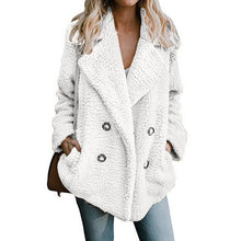 Load image into Gallery viewer, Vintage fluffy faux fur coat women Short furry fake fur winter outerwear pink grey coat autumn casual party overcoat