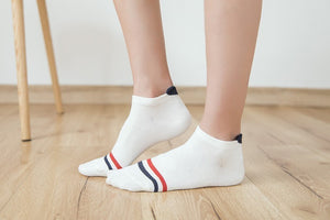 Back heart stripe dot Invisible Short Woman summer comfortable cotton girl women boat socks ankle low female 1pair=2pcs ws191