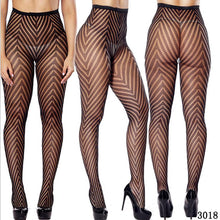 Load image into Gallery viewer, Womens Sexy Fishnet Black Tights Jacquard Weave Pantyhose Yarns Garter Grid Fish Net Stockings Hose Sexy Panty Lingerie Collant