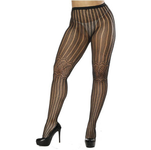 Womens Sexy Fishnet Black Tights Jacquard Weave Pantyhose Yarns Garter Grid Fish Net Stockings Hose Sexy Panty Lingerie Collant