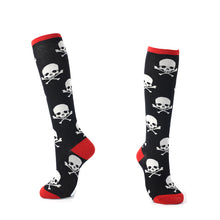 Load image into Gallery viewer, YEADU Women's Stocking Harajuku Colorful Cartoon Cute Funny Unicorn Skull Dino Kawaii Knee long for Girl