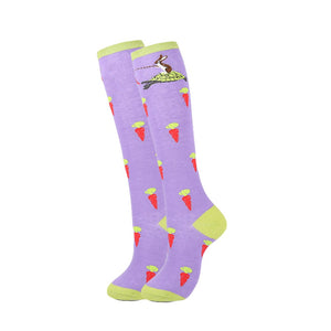 YEADU Women's Stocking Harajuku Colorful Cartoon Cute Funny Unicorn Skull Dino Kawaii Knee long for Girl