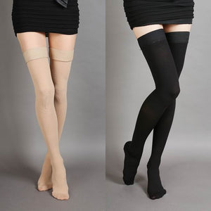 Hot-sale Varicose Veins Thigh High 25-30 mmHg Medical Compression Closed Toe Stockings