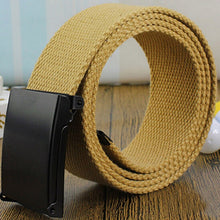 Load image into Gallery viewer, Men Belt 2020 Fashion Unisex Army Tactical Waist Belt Jeans Male Casual Luxury Canvas Webbing Waistband Ceinture Femme