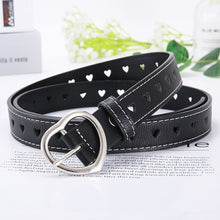 Load image into Gallery viewer, PKWYKLRE New sweetheart buckle with adjustable ladies luxury brand cute Heart-shaped thin belt high quality punk fashion belts