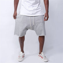 Load image into Gallery viewer, Mens Knee-length Cotton Shorts with Elastic Drawstring Waist Men's Sweatshort with Side Pockets Summer Hip hop men Shorts Pants