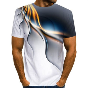 Popular Playboy's Short Sleeve 3D Printed Lightning Playboy T-shirt Uniquely  Raindrop T-shirt Loose O-neck Summer Men's Clothes