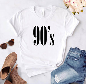 90's Letters Women T shirt Cotton Casual Funny tshirts For Lady Top Tee Hipster Tumblr 6 Colors Drop Ship CB-6