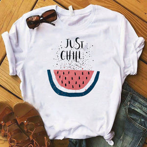 Pineapple fruits Clothing T-shirt Fashion Female Tee Top Graphic T Shirt Women Kawaii Camisas Mujer Clothes 2019