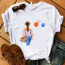 Load image into Gallery viewer, Vogue Blink Women T Shirt Make Up Lipstick Seaside T Summer  Lady Streetwear Luxury Bag T-shirts
