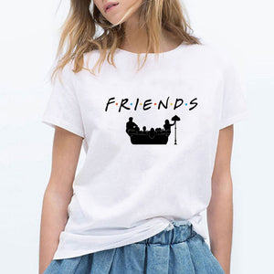FRIENDS T Shirt Women Friend Tv Show Smelly Cat Printed Tshirt Summer Funny T-Shirt Female Top Tee