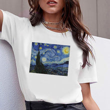 Load image into Gallery viewer, Women Tshirts Print Clothes Tshirt Summer Casual Female Cartoon Movie Painting T-shirt  Woman Tee Ladies Short Sleeve T Top