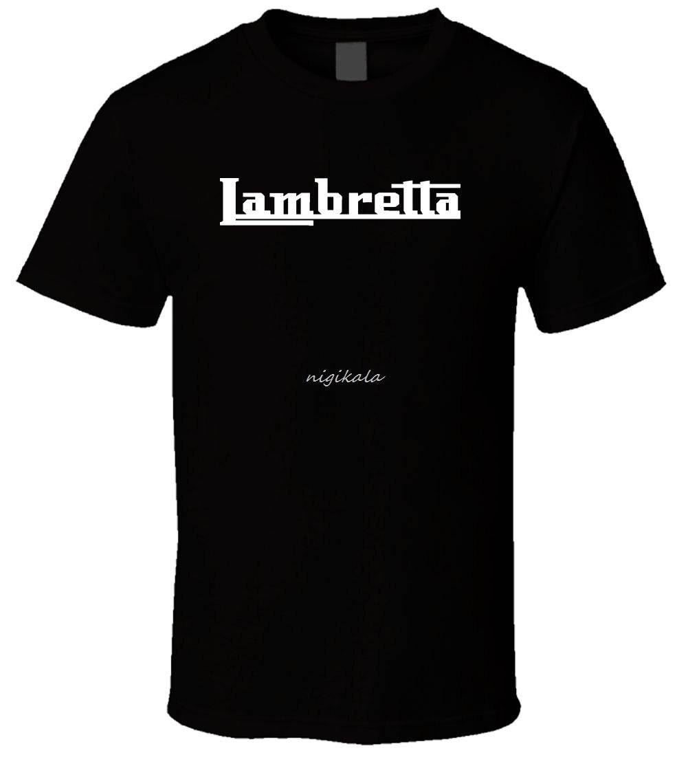 Lambretta POJY Black Men T Shirt Size male teeshirt summer top tees man brand tee-shirt drop shipping