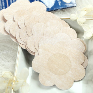 Reusable Women Breast Petals Lift Nipple Cover Invisible Petal Adhesive Strapless Backless Stick on Bra Silicone Breast Stickers