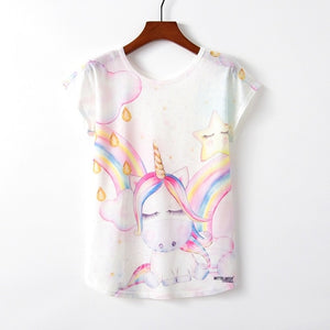 Summer Autumn Women T-Shirts for Girls Harajuku Kawaii Cute Style Bird Print Loose T-shirt New Casual Lady Short Sleeve Tops Tee