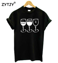 Load image into Gallery viewer, Optimist Pessimist Me WINE Women tshirt Cotton Casual Funny t shirt For Lady Yong Girl Top Tee Hipster Tumblr ins Drop Ship S-71