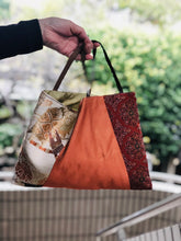 Load image into Gallery viewer, Handbag made of vintage Obi & Kimono fabrics Small