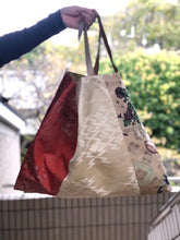 Load image into Gallery viewer, Handbag made of vintage Obi & Kimono Large