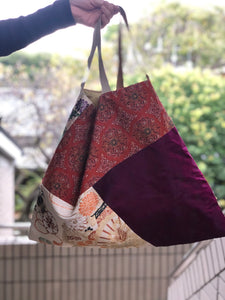 Handbag made of vintage Obi & Kimono Large