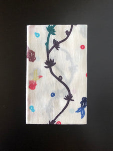 Bingata aquatic plant goldfish pattern Japanese towel