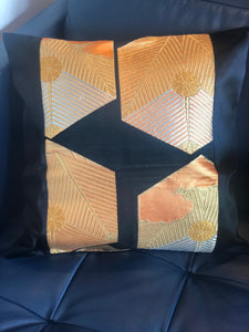 Decorative Black and Gold Pillow Cover
