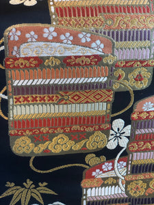 Obi Belt Odoshige pattern / Nishiki-ori woven style (various colored threads used for weaving)