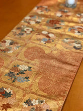 Load image into Gallery viewer, Table Runner Flower pattern with butterflies / classical pattern (woven textile Obi)
