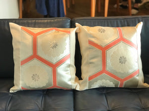 Decorative classic pillow cover with  tortoiseshells and chrysanthemums