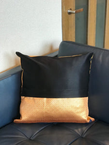 Decorative gold pillow cover with flying cranes
