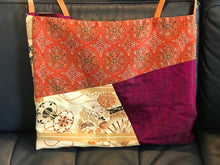 Load image into Gallery viewer, Bag made of vintage Obi & Kimono