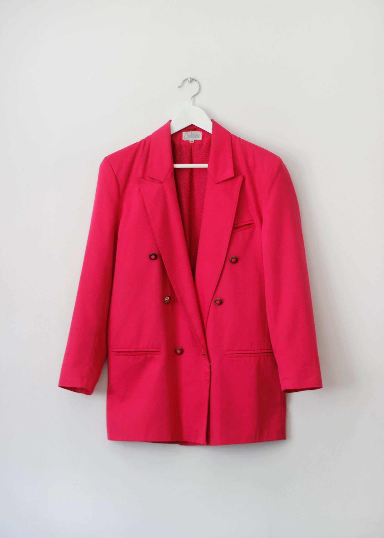 curated pink blazer