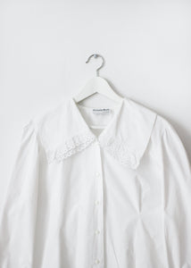 VINTAGE SHIRT WITH LARGE COLLAR