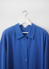 Load image into Gallery viewer, BLUE VINTAGE BLOUSE