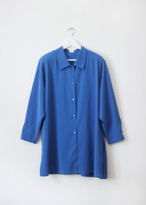 BLUE VINTAGE BLOUSE
