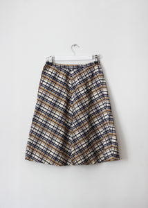 CHECKED VINTAGE SKIRT