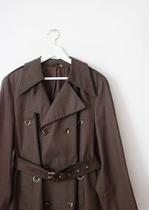 BROWN VINTAGE TRENCH COAT