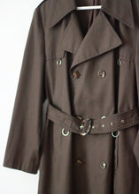 Load image into Gallery viewer, BROWN VINTAGE TRENCH COAT