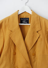 Load image into Gallery viewer, BURBERRY VINTAGE LINEN BLAZER