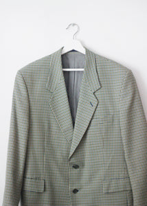 CHECKED VINTAGE BLAZER