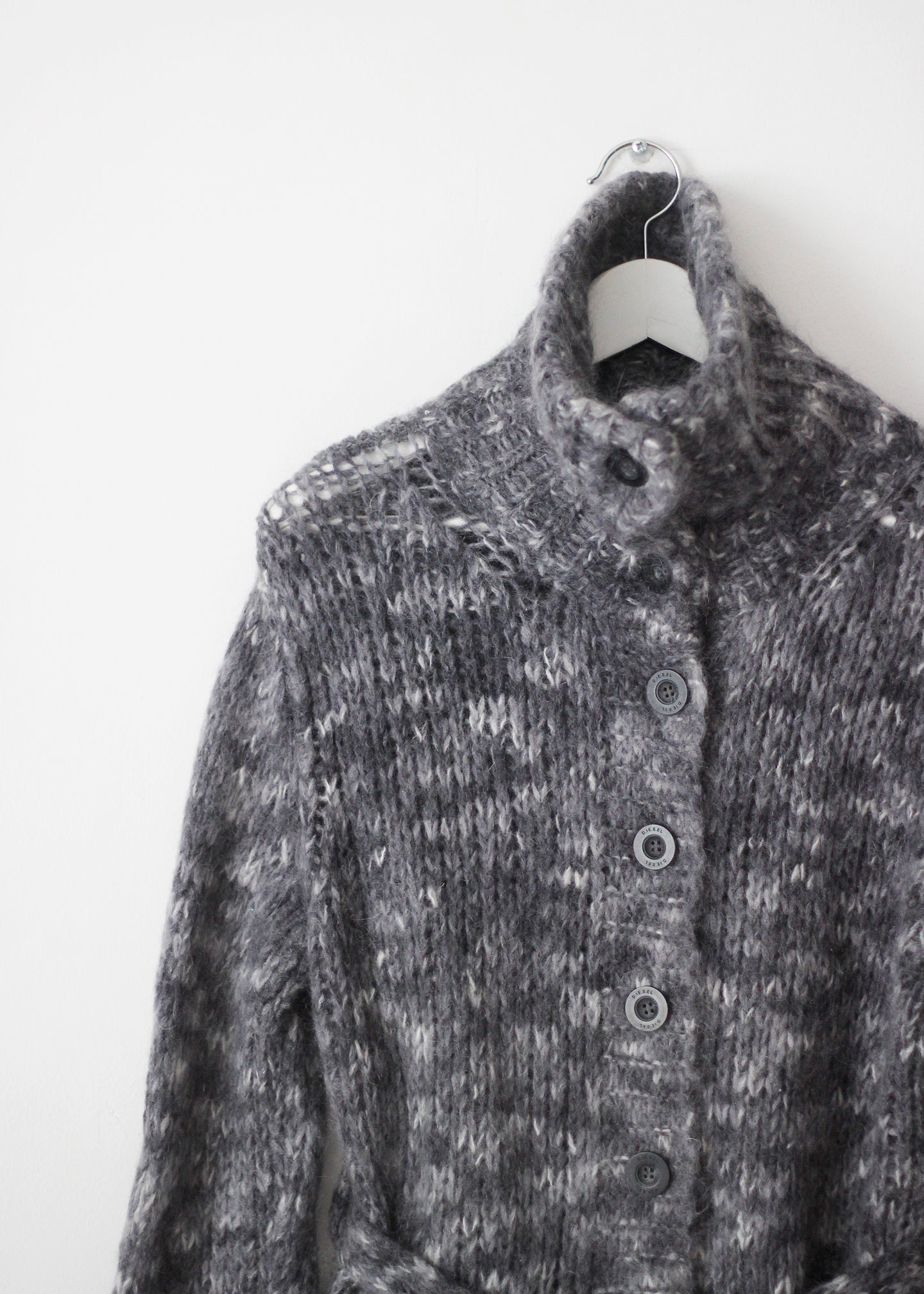 BELTED MOHAIR CARDIGAN