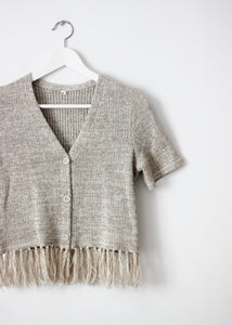 KNIT TOP WITH FRINGES