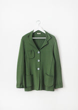 Load image into Gallery viewer, GREEN VINTAGE WOOL CARDIGAN