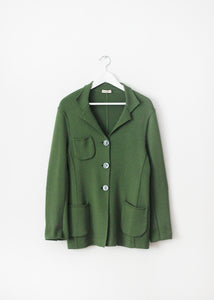 GREEN VINTAGE WOOL CARDIGAN